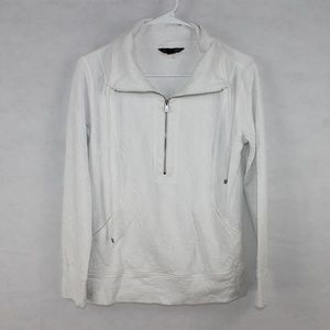 Tommy Bahama Women's XS White Half Zip Sweater